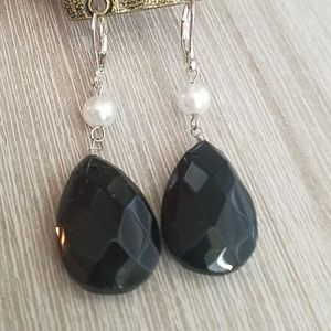 Black earrings